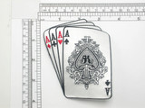 Poker Patch Aces Four of a kind Iron On Embroidered Applique