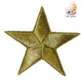 """Star 2 3/8""""(60mm) Embroidered Iron On Patch Applique"""