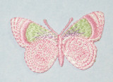 "Butterfly  1 5/8"" Pink Pastel"