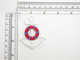 "Anchor Life Preserver Iron On Applique Embroidered Patch  Fully Embroidered Measures 2"" x 2 1/2"""