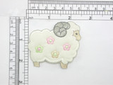 """Sheep Ram Iron On Embroidered Applique Measures 2 9/16"""" across x 2 1/4"""" high approx"""