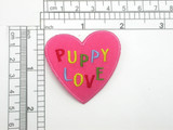 Puppy Love Heart Patch Iron On Embroidered Applique