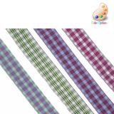 """Jacquard Ribbon 15/16"""" Woven Tartan *Colors* 5 Yards"""