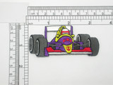 "Race Car Patch Racing Car Formula 1 Iron On Patch Applique 3 1/4"""