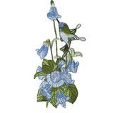 Blue Hummingbird in Flower Spray