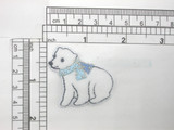 """Polar Bear Patch iron On Embroidered Applique 1 1/2"""" x 1 5/8"""""""
