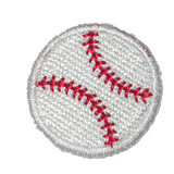 "Baseball 1"" 25mm - 5 Pack"