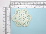 Ivory Mandala Flower Embroidered iron On Applique