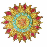 Mandala Embroidered Asian Iron On Patch Applique