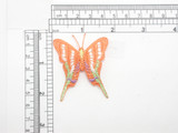 "Butterfly Patch Iron On Embroidered Applique Swallowtail Orange  Fully Embroidered Measures 1 3/4"" across x 2"" high approximately"
