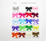 "Flat Double Bows Satin Ribbon   1 3/4"" (45mm)  x 1 1/4"" (32mm) *Colors* 10 Pack"