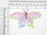 Butterfly Patch Iron On Embroidered Applique Sheer Wing Multi