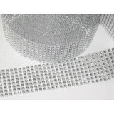 "Jewel Effect Trim 1 1/2"" Silver By The Yard"