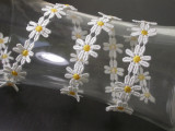 """Venise Lace Daisy 7/8"""" Off White & Yellow 5 Yards"""