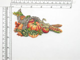 Cornucopia Thanksgiving Harvest Iron On Patch Applique Embroidered