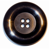 "Button 1 11/16"" Flat 4 Hole Black Per Piece"
