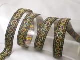 "Jacquard Ribbon 3/4"" (19mm) Paisley Multi Metallic Priced Per Yard"