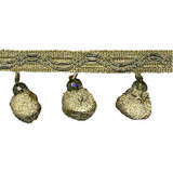 "Beaded Ball Fringe 2 3/4"" Conso 18 Yard Bolt - Sage"