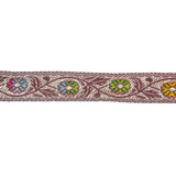 """Jacquard Ribbon 15/16"""" Floral Multi 11 Yards"""