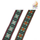 "Jacquard Ribbon  1 1/8"" (28mm) Alpine Style *Colors* 5 Yards"