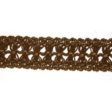 "Pleather Braid 1 3/8"" Brown Per Yard"