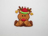 Christmas Reindeer Iron On Patch Applique
