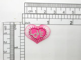 Heart LOVE Pink Patch Iron On Embroidered Applique 10 Pack