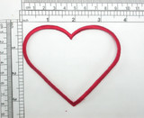"""Red Heart Patch Outline 3 1/4"""" high Iron On Embroidered Applique"""