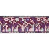 "Jacquard Ribbon 2"" Purple Trees Per Yard"