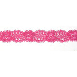 """Stretch Lace 1"""" Hot Pink 50 Yards"""