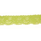 """Stretch Lace 1 1/8"""" Lime 10 Yards"""