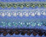 """Venise Lace 1 1/2"""" (38mm) *Colors* with Sequins Priced Per Yard"""