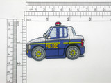 Police Car Patch Iron On Embroidered Applique