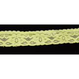 """Stretch Lace 1"""" Lime 50 Yards"""