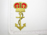 Anchor with Crown Metallic Large Iron On Patch Applique