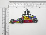 "Race Car Patch Racing Car Formula 1 Iron On Patch Applique 3 1/2"""