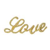 LOVE Metallic Gold Word