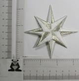 "Star 3 1/4"" (82.55mm) White & Silver"