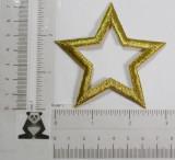 """Star 3"""" Open (75mm)  Metallic Gold"""