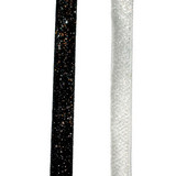 "Glitter Ribbon 3D 3/8"" 25 Yards Black"