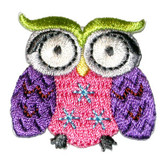 Owl Iron On Embroidered Applique