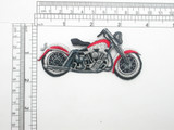 Motorcycle Red/Black Patch Embroidered Iron On Applique