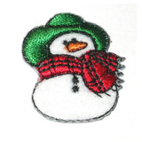 Snowman Iron On Patch