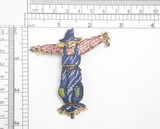 "Scarecrow Iron On Embroidered Patch Applique  Fully Embroidered Measures 2 5/8"" across x 2 7/8"" high"