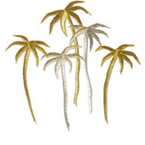Palm Trees 5 Gold Silver Metallic