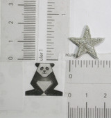 """Star 13/16"""" with Border (20.63mm) Metallic Silver"""