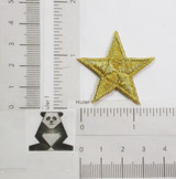 "Star Bordered 1 1/2"" (38MM) Metallic Gold"
