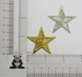 "Star Bordered 1 5/8"" (41.2mm) Metallic *Colors*"