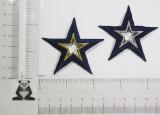 "Star Open 2 1/4"" (57.1mm) Navy with Metallic Center"