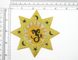 """Zodiac Leo Astrology Star Iron On Embroidered Applique 4 1/8"""""""